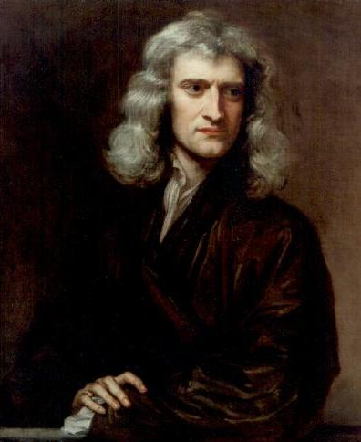Portrait of Isaac Newton by Sir Godfrey Kneller
